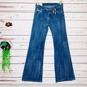 NWT Rare Diesel Paint Brush Distressed 0'Leg Jeans
